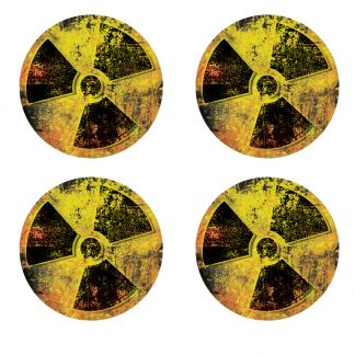 AR-15 Subdued Green GRUNGE MIRROR 4 PACK Stickers Vinyl Decal lower AR0048LR