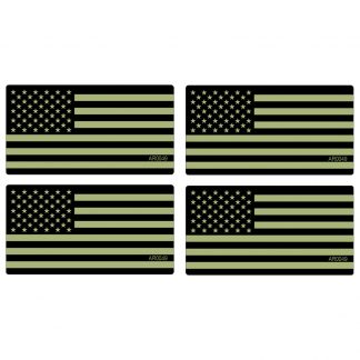 AR-15 Vinyl Decal Lower Gun AR0025 Subdued Green Flag Circle 4 PACK Stickers